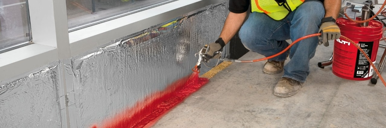 Hilti firestop for perimeter joints