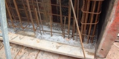 Hilti post installed rebar wall extensions