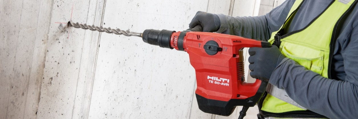 Hilti TE-YX drill bits for concrete drilling