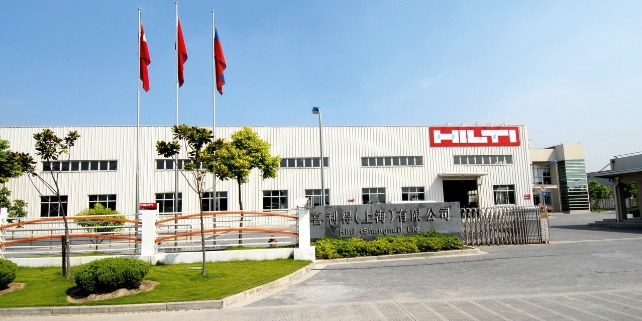 Hilti-fabriek in Shanghai, China