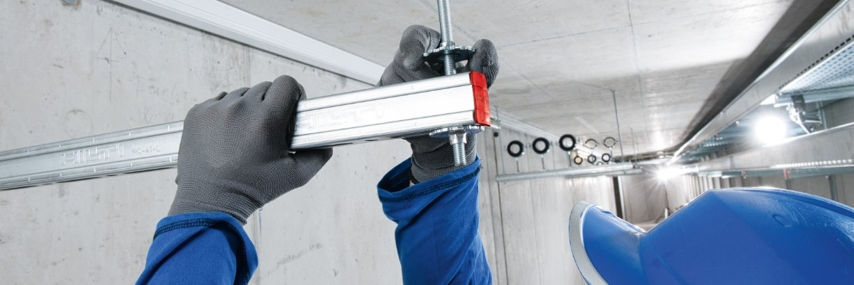 Hilti modular support systems MQ-41-L installation channel for medium-heavy duty applications
