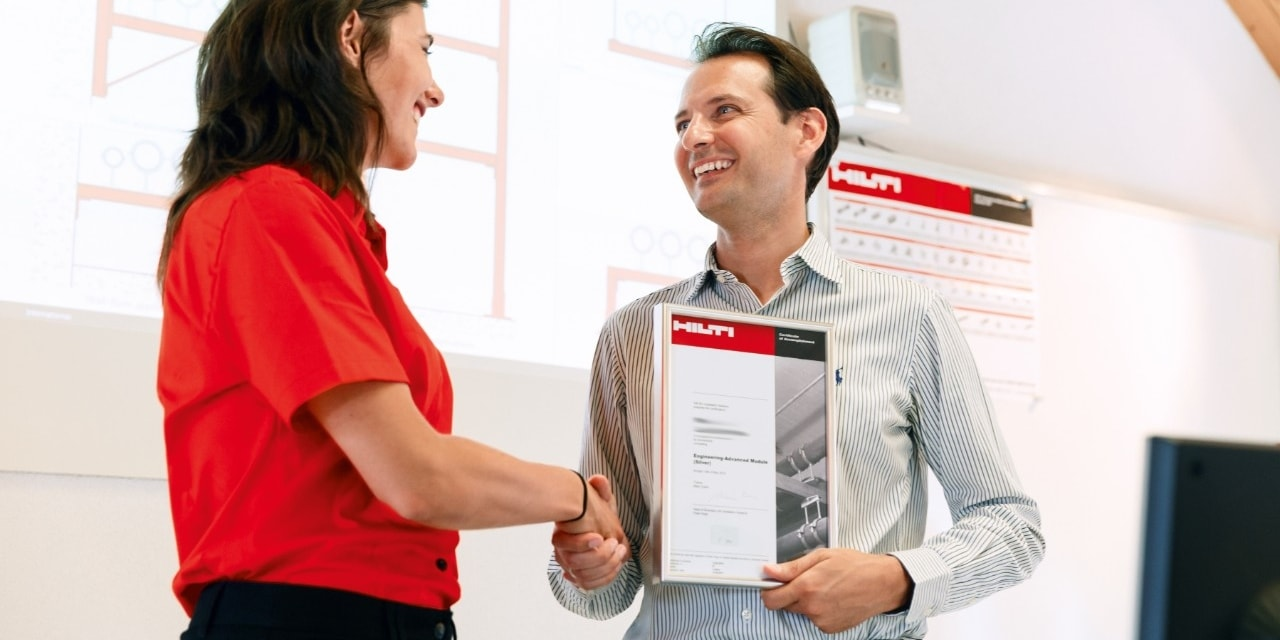 Hilti chemical products training