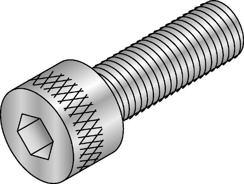 Vis cylindrique DIN 912 avec six pans creux 8,8 galvanis/é